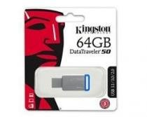 Pen Drive USB 3.1 Kingston DT50/64GB Datatraveler 50 64GB Metal AZUL -