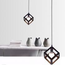 Pendente 3d formato cubo - bivolt - Toplamp
