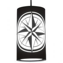 Pendente LED 16W Luz Branca RCG - Rosa dos Ventos