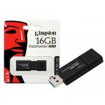 Pendrive 16GB USB Kingston DataTraveler 100 Generation 3 DT100G3/16GB Preto -