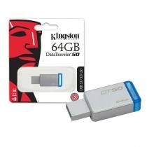 Pendrive 64GB USB 3.1 Kingston DT50/64GB Datatraveler 50 Metal Azul -