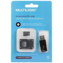 Pendrive Kit Dual Drive OTG 16 GB Multilaser - MC131 -