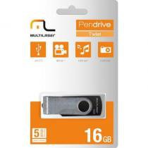 Pendrive Multilaser TWIST Preto 16GB - PD588 -
