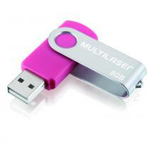 Pendrive Multilser twist rosa 8gb - PD687 - Multilaser