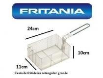 Peneira cesto fritura fritadeira retangular 23x11x10cm c0105 - Fritania