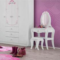 Penteadeira 1 Gaveta Princesa Encantada Clean Pura Magia Branco -