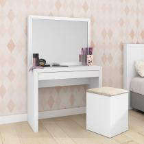 Penteadeira com espelho e 1 gaveta pe2000 tecno mobili- branco - Tecno mobili