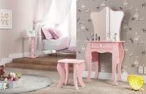 Penteadeira New Bambini Rosa  - Patrimar Móveis -
