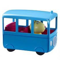 Peppa com veículo Rebecca e ônibus Azul DTC 4201 -