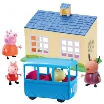 Peppa Pig Escolinha e Ônibus Escolar - DTC -