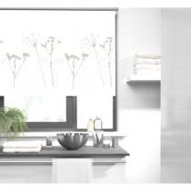 Persiana Habitat Rolo Blackout 1,20m x 1,60m Evolux Branco Floral - Evolux