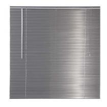 Persiana Horizontal em Alumínio 25MM 1,20L X 1,40A - Cinza Metálica - EverBlinds