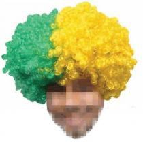 Peruca Black Power Copa Mundo Olimpiada Brasil Verde/Amarelo C-3635 - Mega chens