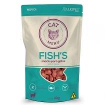 Petisco Luopet Cat Menu Fishs para Gatos -