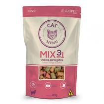 Petisco Luopet Cat Menu Mix 3 em 1 para Gatos -