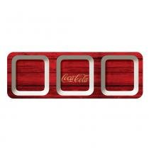 Petisqueira retangular coca-cola wood style - Coke