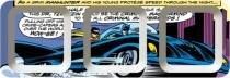 Petisqueira Retangular Melamina Batman Car Azul 3 Divisões - comics