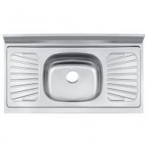 Pia de cozinha em aço inox 105 x 52 cm - Standard - Tramontina