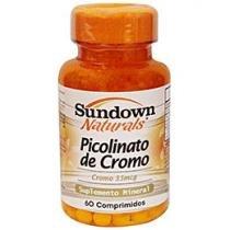Picolinato de Cromo Mineral 60 Cápsulas - Sundown Naturals