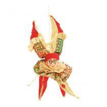 Pierrot P/ Pendurar Decoração Natal 30Cm Vermelha - Cromus