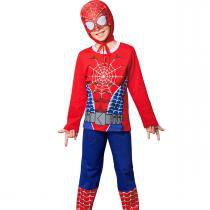 Pijama longo kids super herói aranha - com capuz - Veggi 83cba4a7ebba9