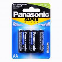 Pilha AA Pequena com 4 Unidades - Panasonic - Panasonic