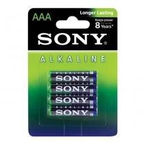 Pilha AAA Sony Alcalina Palito com 4 Peças - Sony - Sony