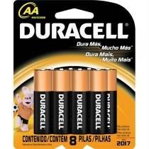 Pilha Alcalina AA Pequena com 8 unidades - Duracell - Duracell