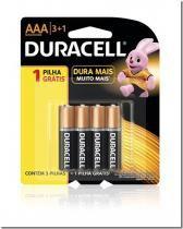 Pilha Alcalina Duracell  Palito Aaa 3+1 - Duracell -