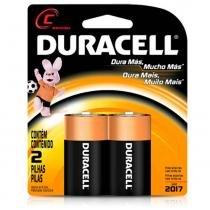 Pilha Alcalina Média C com 2 Unidades MN-1400  Duracell - Duracell