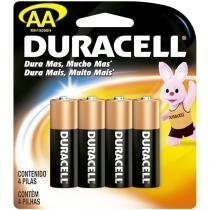 Pilha Alcalina Pequena AA Com 4 Unidades MN1500B4 - Duracell -