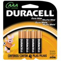Pilha duracell palito aaa com 4 unidades - Procter