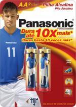Pilha Panasonic Alcalina Pequena LR6 com 2 - Comprenet