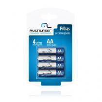 Pilha Recarregavel AA 4x 2500mah CB052 Multilaser -