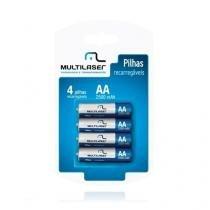 Pilha recarregavel aa multilaser com 4 cb052 Multilaser