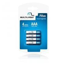 Pilha Recarregavel Multilaser AAA 1000mAh 1.2V 4 unidades -
