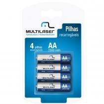 Pilhas Recarregáveis AA 2500mAH com 4 Unidades CB052 - Multilaser - Multilaser