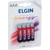 Pilhas Recarregáveis Palito Aaa 1000Mah 1.2V C/04 Elgin -