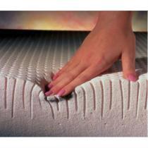 Pillow top de Látex Casal King size capa bambu 193x203x03 top pad dunlopillo - COPESPUMA