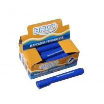 Pincel Atômico Permanente Azul ponta chanfrada BRW 12un - d040adcd53