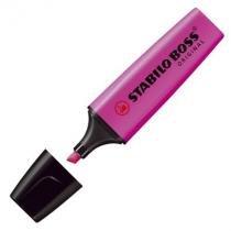 Pincel marca texto Boss 70 - rosa - Stabilo -