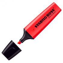 Pincel marca texto Boss 70 - vermelho - Stabilo -