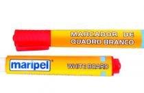 Pincel Marcador de quadro branco Maripel Vermelho caixa com 12 unidades -