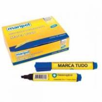 Pincel Marcador Permante Maripel Azul caixa com 12 unidades -