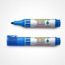 Pincel Marcador Quadro Branco Azul Compactor  12 Unidades -