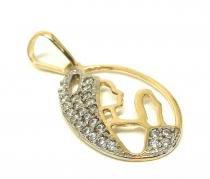 Pingente de ouro 18k Nossa Senhora Aparecida - Zirconia - MidasStore
