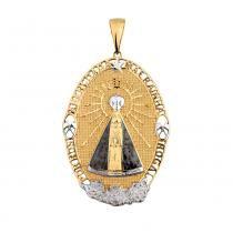 Pingente Nossa Senhora Aparecida em Ouro 18k Oval - Joia em casa daa3b9ce32