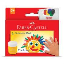 Pintura a dedo - estojo - HT160006L - com 6 cores - Faber-Castell -