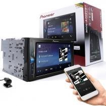 """Pioneer MVH-A208VBT Multimídia Receiver 2 Din Bluetooth Tela 6,2"""" USB, Câmera de Ré -"""