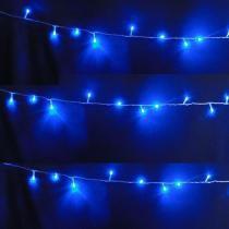 Pisca Pisca 100 LEDs 10m Azul 220V 4 Fases Fio Transparente CBRN05123 - Commerce brasil